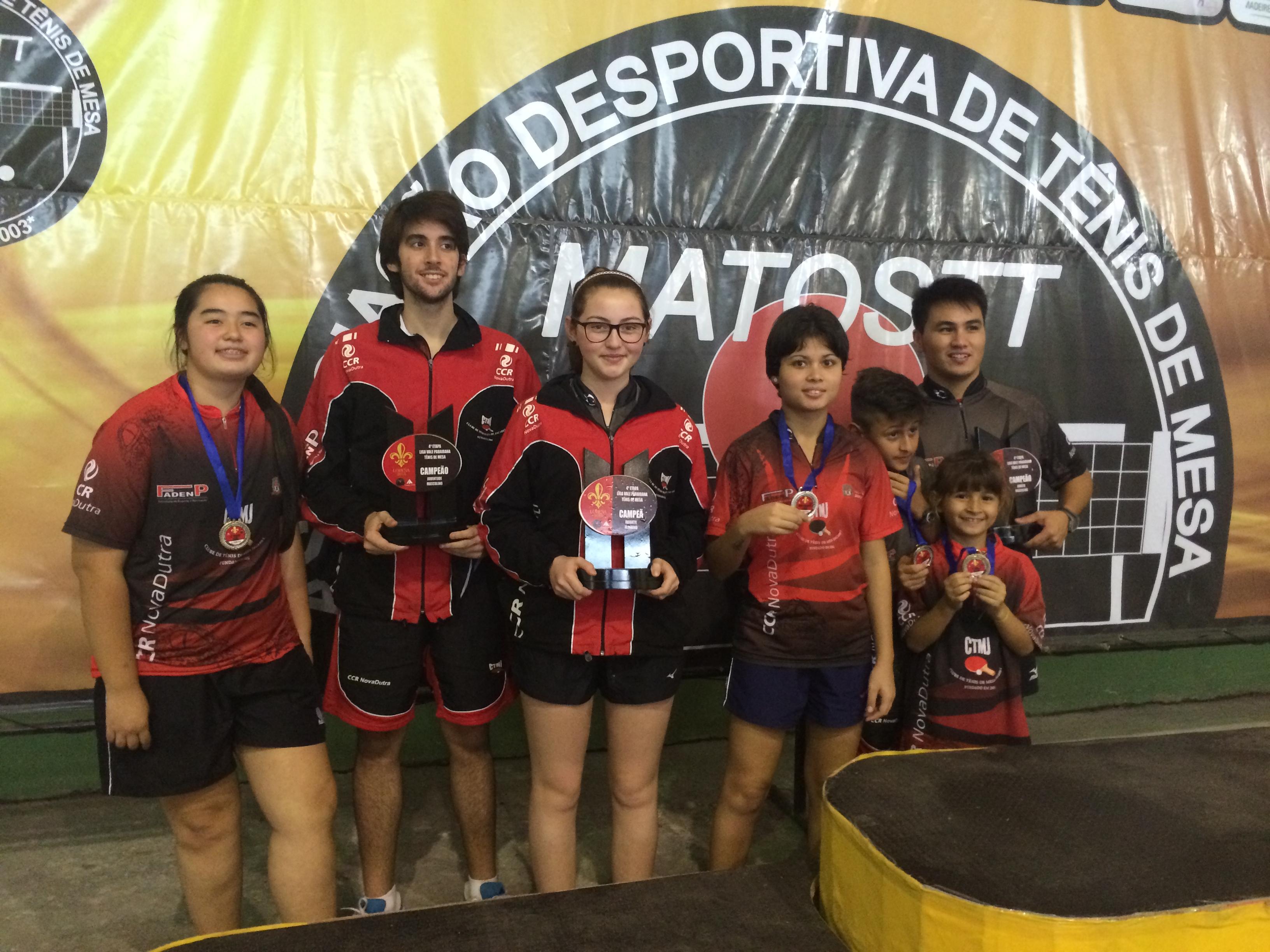 Tênis de Mesa conquista 11 medalhas na quarta etapa do Ranking Valeparaibano