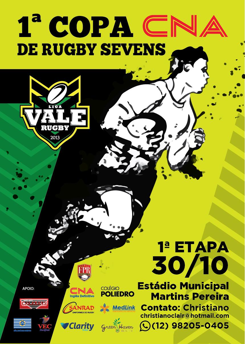 1º Copa CNA de Rugby Sevens agita o fim de semana no Vale