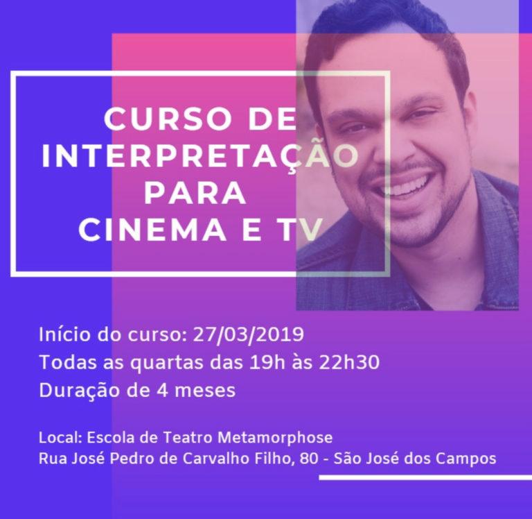 Curso de Interpretação para TV e Cinema em São José dos Campos tem matrículas abertas para início neste semestre