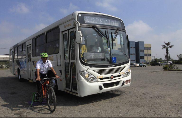 Experimento com motoristas de ônibus  finaliza a 'Semana do Ciclista' em Jacareí