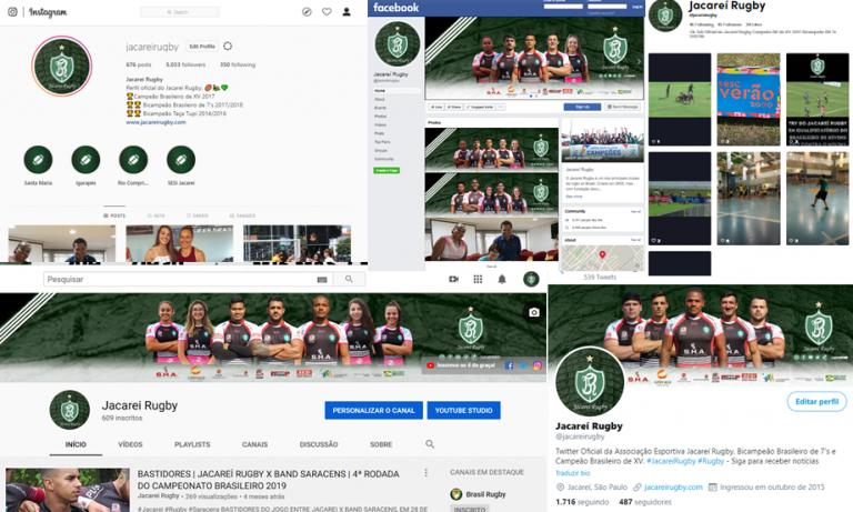Jacareí Rugby tem crescimento de 4,5 mil seguidores nas mídias sociais em 2019