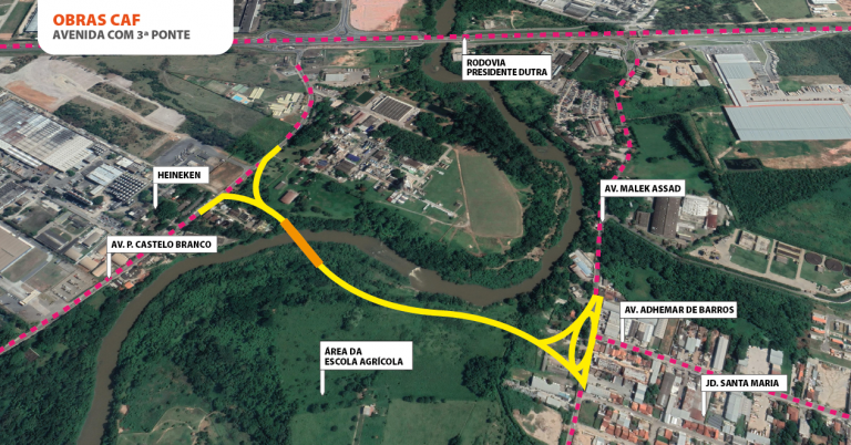 Jacareí dá início à construção da terceira ponte sobre o Rio Paraíba