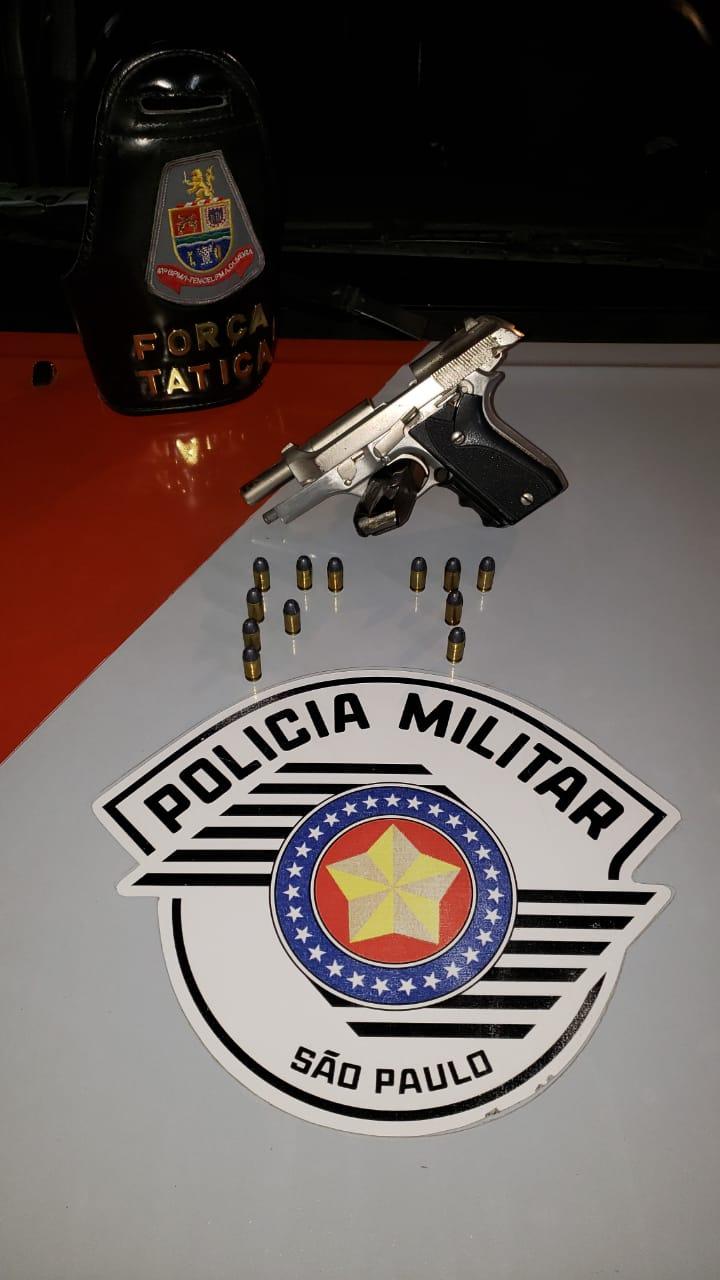 Força Tática de Jacareí prende homem   com arma de fogo no Jardim Paraíso