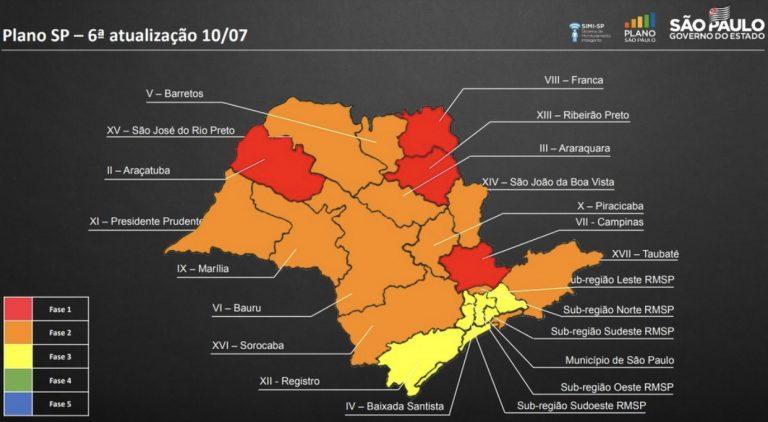 Jacareí continua na fase laranja do mapa de flexibilização