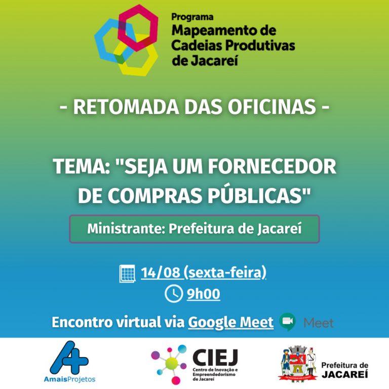 Programa de Mapeamento de Cadeias Produtivas de Jacareí retoma atividades em ambiente virtual