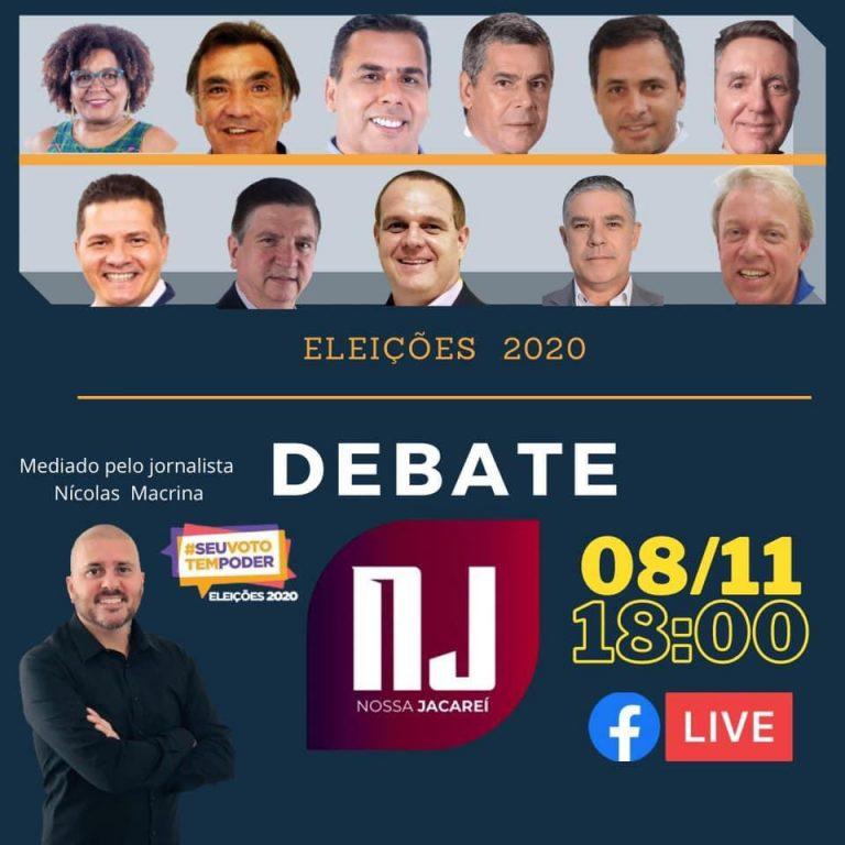 Veja o debate NJ com os 11 candidatos à prefeitura de Jacareí