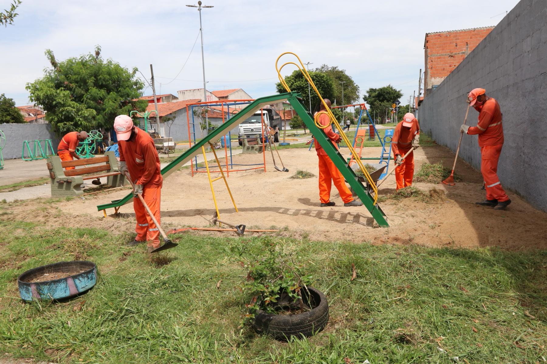 Parque Linear Tupinambás recebe cuidados da Secretaria de Meio Ambiente de Jacareí