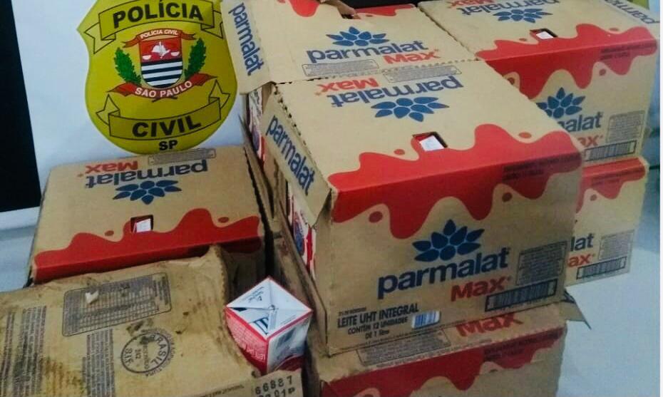 Cinco pessoas são presas após furto em carga de fardos de leite