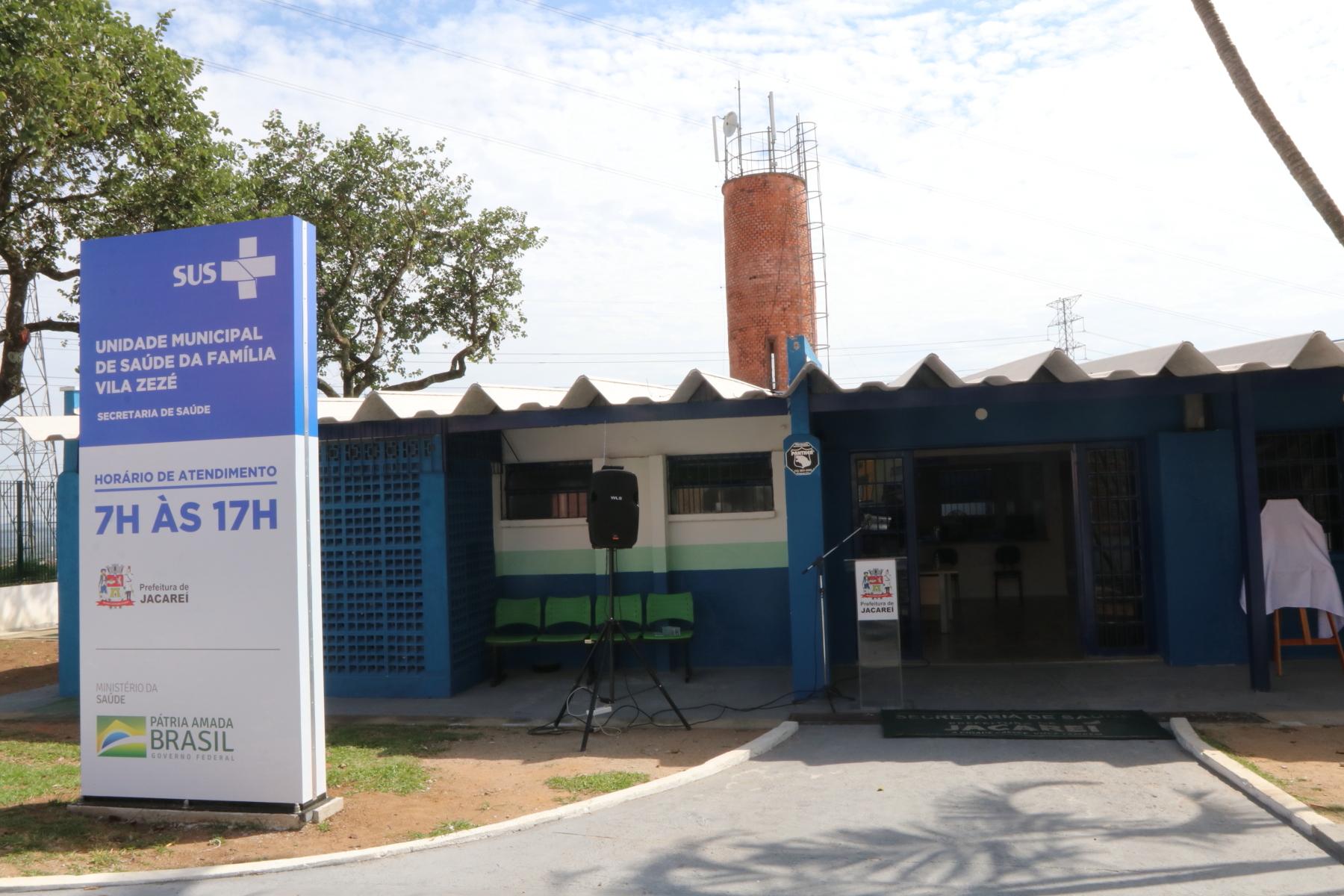 Jacareí reinaugura UMSF Vila Zezé e CAPS II