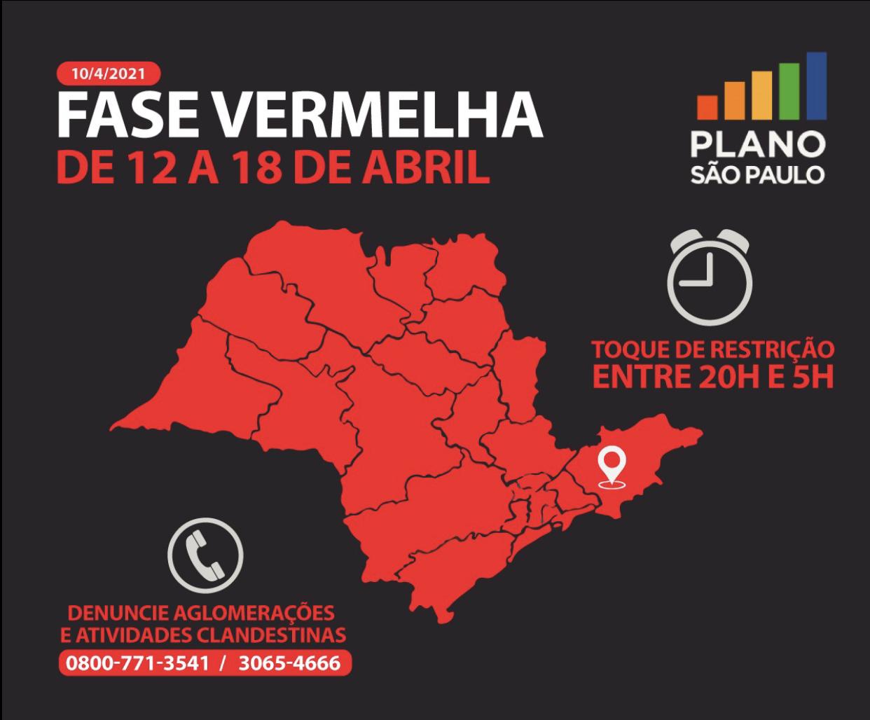 Prefeitura divulga decreto para fase vermelha em Jacareí