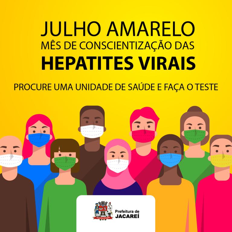 Julho Amarelo: Prefeitura de Jacareí promove campanha para conscientização sobre hepatites virais