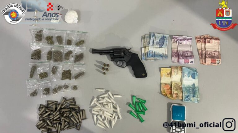 Quadrilha é presa e adolescente detido por tráfico de drogas em Jacareí